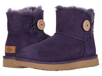UGG Australia Womens Mini Bailey Button II Sheepskin Boots