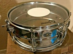 Snare-Drum-5-034-x-14-034-Beaded-Chrome-Over-Steel-Shell-8-Lug-1-6mm-Hoops