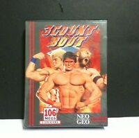 Count Bout Wrestling Game For Neo Geo Aes System W/ Damaged Plastic Tray