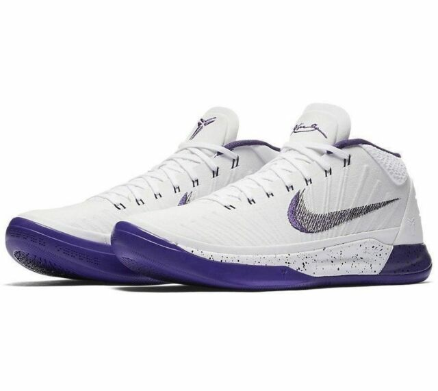 buy online 231d1 ef188 Nike Kobe AD Mid Mens Basketball Shoes 10 White Court Purple 922482 100
