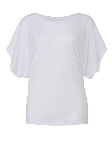 Longshirt Fledermausärmel Tunika Damen S M L XL Melange Meliert T-Shirt Shirt