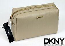 $105.00 NWT DKNY Donna Karan SLGS Vintage Pu Cosmetic Case Purse MakeUp Bag -