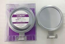 Conair Fog Resistant Bathroom Shower Men Shaving Mirror w/3 suction cups &