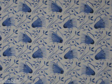 "WILLIAM MORRIS CURTAIN FABRIC ""Swans"" 3.4 METRES DELFT BLUE DM3P224479"