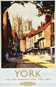 TX341-Vintage-YORK-Yorkshire-British-Railway-Travel-Poster-Re-Print-A2-A3-A4