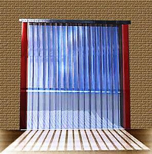 B 2,75m x H3,75m Lamellen PVC Streifen Vorhang 300x3mm