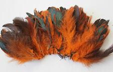 "20g (0.7ozs) 4-6"" half bronze orange schlappen coque rooster feathers, ~200pcs"