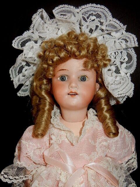 Antique 14  Armand Marseille 390 A 2 0 M Bisque Head Doll