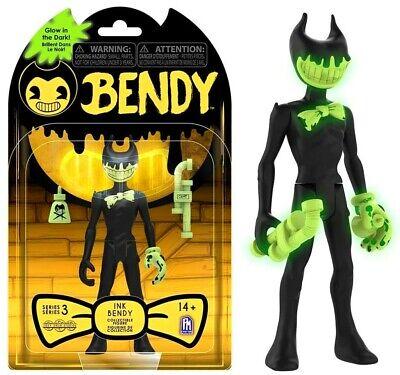 Bendy /& the Ink Machine Cartoon Bendy Glow-in-the-Dark Figure Dark Revival