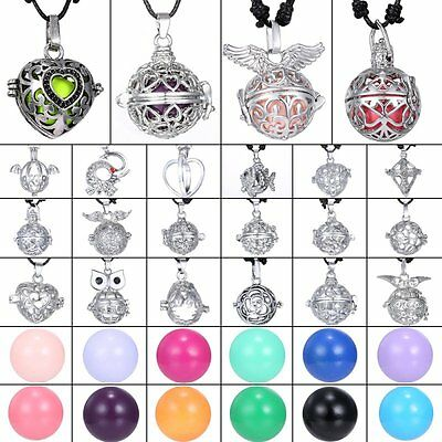 Harmony Ball Cage Silver Pendant Angel Ball Sounds Chime Locket Necklace Jewelry