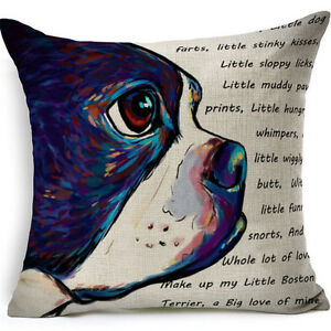 captivating pillow boston canines terrier