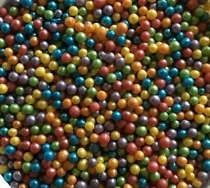 Rainbow-Pride-Mix-Glimmer-Pearls-50g-Sprinkles-Edible-Cake-Toppers-Birthday
