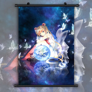 Sailor Moon Crystal Tsukino Usagi HD Canvas Print Wall Poster Scroll Room Decor