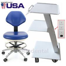Pu Leather Adjustable Dentist Chair Doctor Hydraulic Rolling Stoolmedical Cart