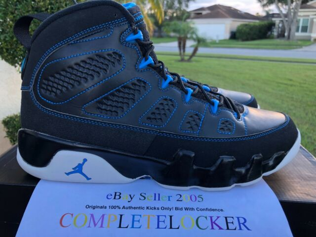 promo code e7cdc bedcd New Nike Air Jordan 9 IX Retro Photo Blue Black 302370-007 Mens Shoes SZ