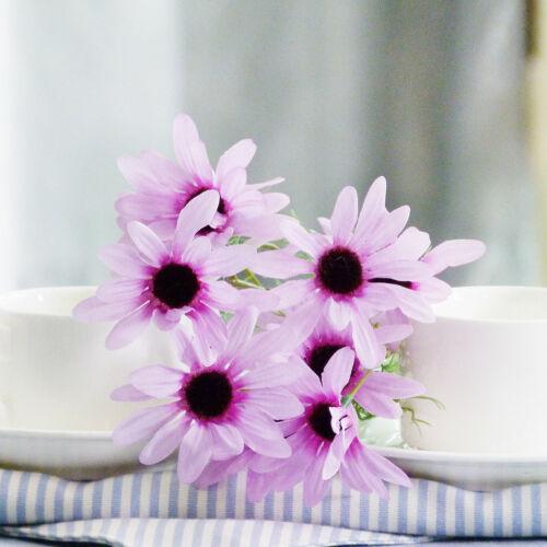 5Heads Peony Hydrangeas Silk Flowers White Weddings Decors Bridesmaids BouquetFO
