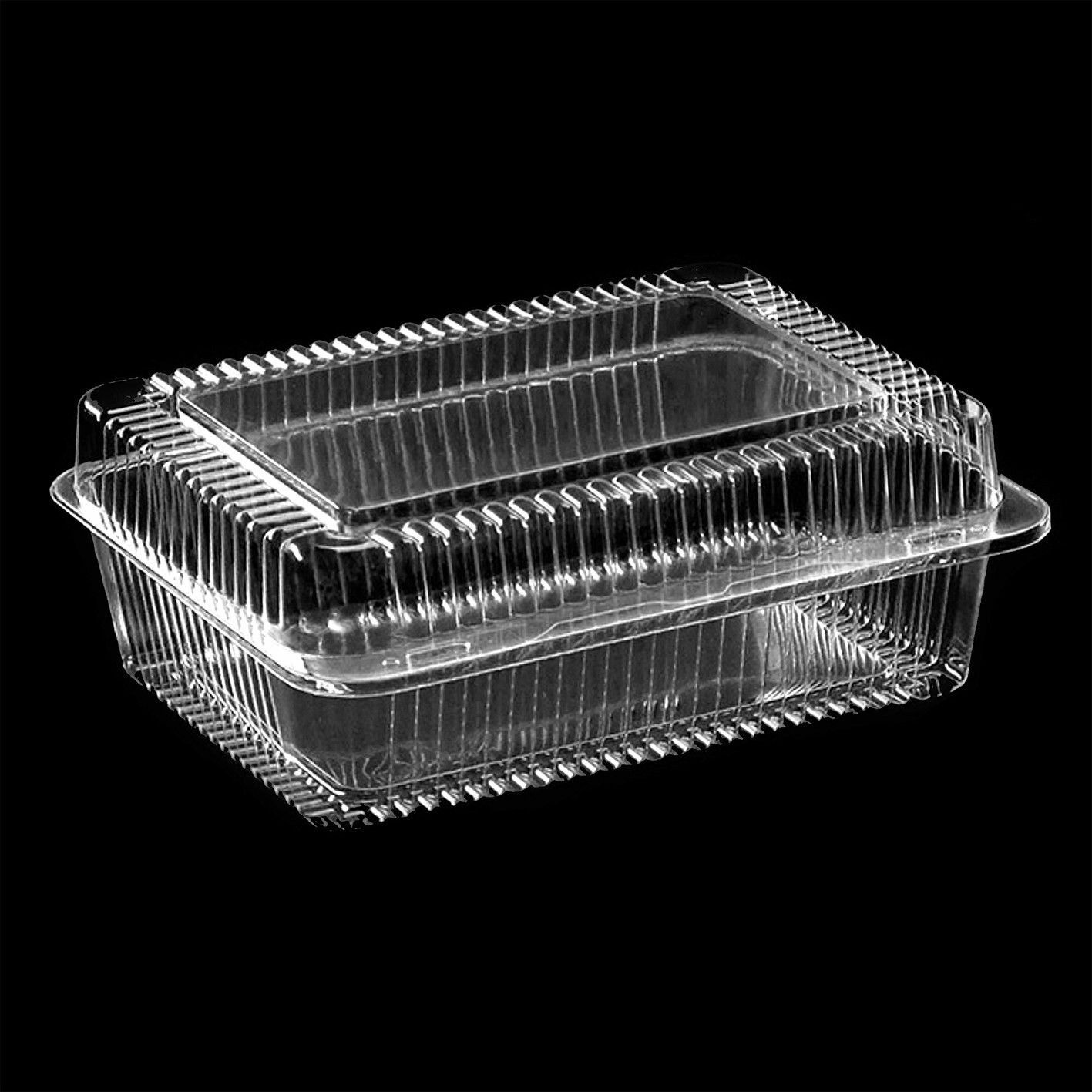 10-300 Plastic Disposable Clear Boxes for Food CAKE Größe- Größe- Größe- 230 x 160 x 97mm - K80 50fe58