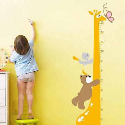 Removable Cartoon Giraffe Children Kid Growth Height Chart PVC Wall Sticker IDXX