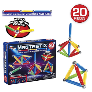 Magtastix 55406 Building Set (20-Piece) - STEM Learning and AuPost - Sale
