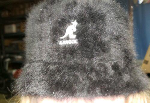 Kangol Lindale Furgora Bucket Hat Black Angora fur