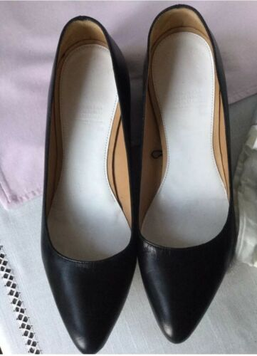 H Flat Leather amp;m Lost 6 Martin Pumps For Rare Black Heel