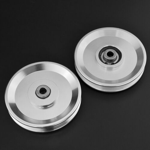 73//95//110//114mm Bearing Pulley Wheel Cable Gym Equipment Silver Aluminum Heavy
