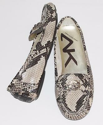 ANNE KLEIN *SNAKESKIN ANIMAL PRINT* COMFORT MOCCASIN DRIVING LOAFER SHOES~7