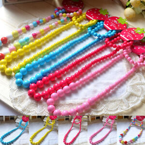 PRINCESS-GIRLS-COLORFUL-BEADS-NECKLACE-KIDS-BABY-BRACELET-TODDLER-JEWELRY-FILL
