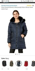 Vince-Camuto-Womens-Coat-Navy-Blue-size-Large-brand-new