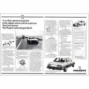 1981 Peugeot: Turbocharged Diesel Vintage Print Ad