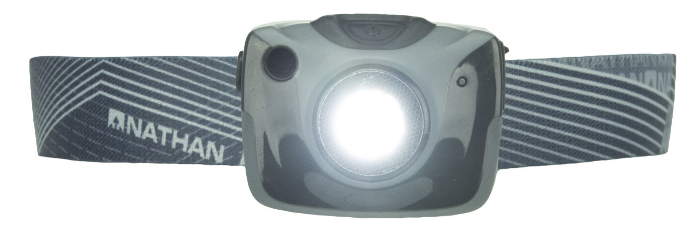 Nathan Sports Nebula Fire Runner's Rechargeable Headlamp Trail Road 5100N Grau
