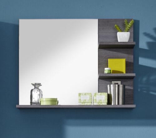 Badspiegel Badezimmer Bad Spiegel Sardegna grau mit Regal Ablage Möbel Miami 70