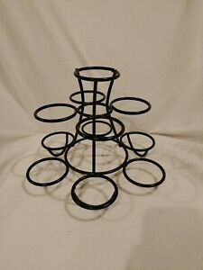 Colonial-Williamsburg-Black-Wrought-Iron-Centerpiece-Stand-Apple-Candle-Fruit