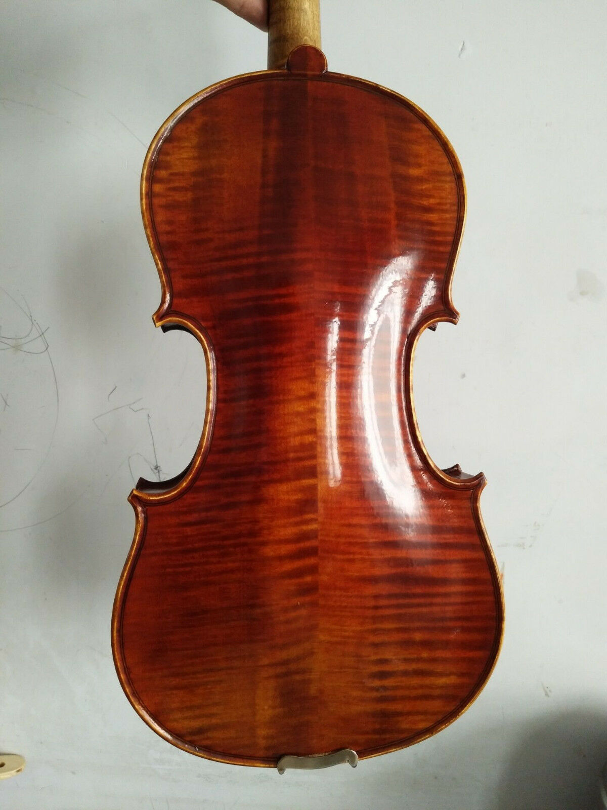 Master 4 4 Violin European tone wood flamed maple old spruce top nice tone
