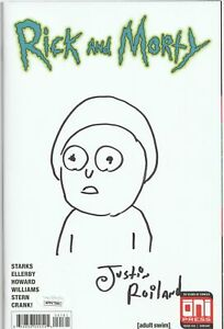 Justin-Roiland-Autograph-Comic-Book-Rick-and-Morty-Sketch-Cover-Proof-JSA-COA