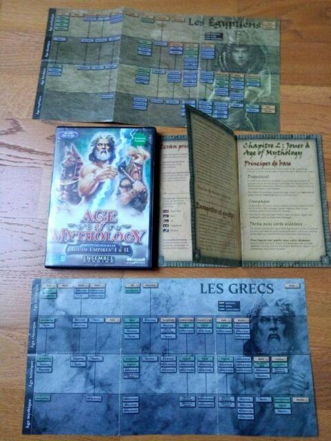 Jeu PC VF  Age of Mythology  2 CDs notice  Envoi rapide et suivi