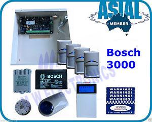 BOSCH ALARM Solution 3000 Kit 4 PIR 16 Zone System Free Programming