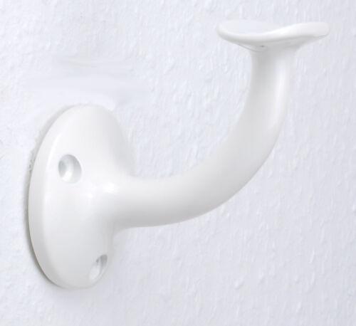 Handlaufträger weiß für Rundhandlauf Handlaufhalter Aluminium HHLL03ws