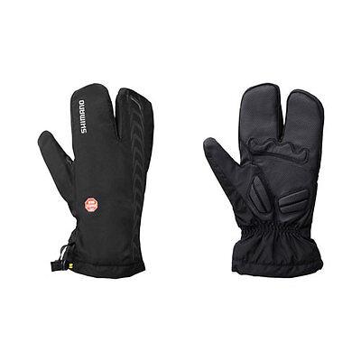 Shimano Windstopper 2 x 2 Bike / Cycle Gloves - Black