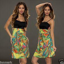 Vestido de verano 375 vestido de verano multicolor con tiras cintura alta un tamaño regular