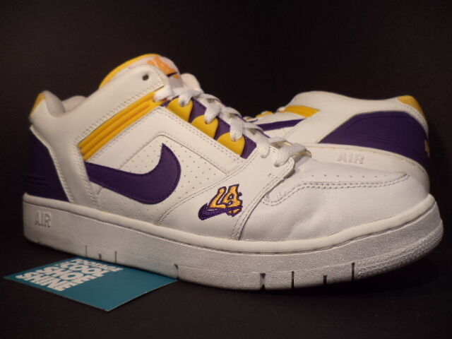 2018 Nike Air Force II 2 Low 1 LA LAKERS WHITE PURPLE DEL SOL GOLD 305602-151 13 Seasonal clearance sale
