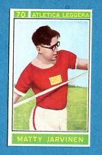 Figurina/Sticker CAMPIONI DELLO SPORT 1967/68-n. 70 -JARVINEN- ATLETICA LEG -rec