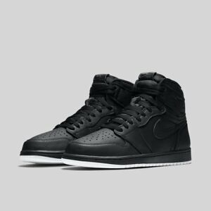 43a5de72ef9169 Nike Air Jordan 1 Retro High OG Black White Perforated Size 10 ...