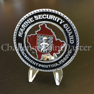 Details about Pristina Kosovo Marine Security Guard Detachment U S  Embassy  Challenge Coin