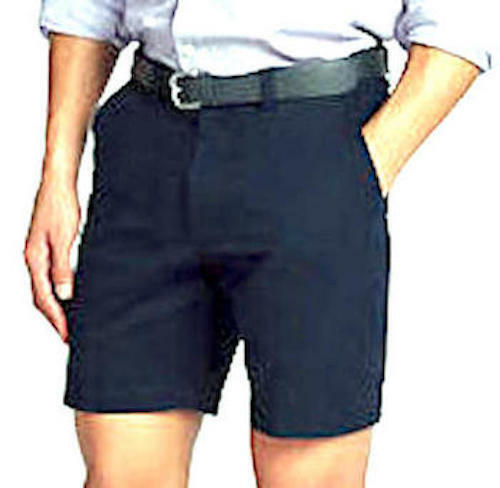 """Cotton Shorts Chino Navy Blue Nice n Easy Button Fly 30/"""" 32/"""" 34/"""" 36/"""" 38/"""" 40/"""""""