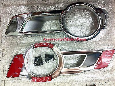 Chrome Fog Lamp Light Cover Trim For New Toyota Hilux Vigo Champ 2011-2014 V.2