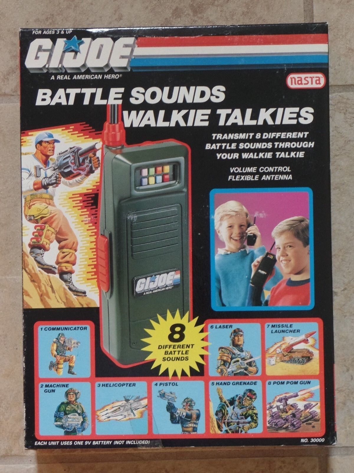 GI Joe Battle Sounds Walkie Talkies NEW Sealed Box Hasbro Nasta 1990