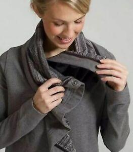 lululemon long sleeve savasana wrap w/ snaps grey size 4