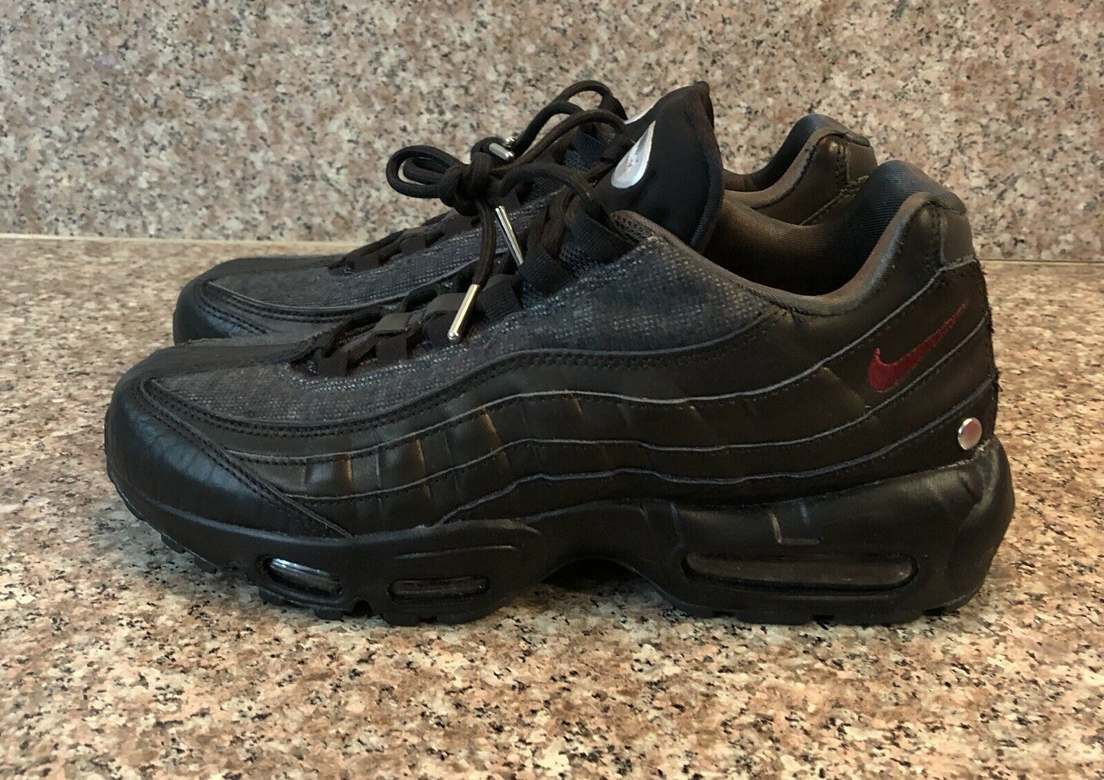 adaa535743 Nike Air Max 95 NRG Jacket Pack Men's Size 8.5 Black Red 3M AT6146 001 NEW