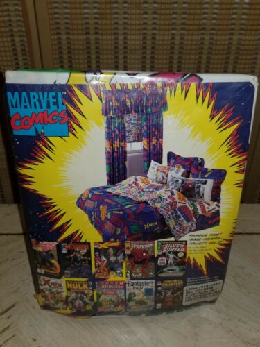 Vintage 1994 Marvel AVENGERS Flat Sheets Set INCREDIBLE HULK Twin Fitted New